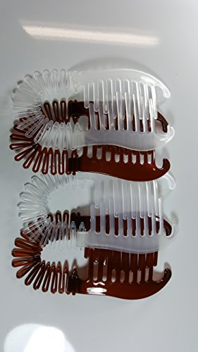 4 pcs NEW VINTAGE LARGE COMB BANANA CLIP HAIR RISER CLAW(Colors)