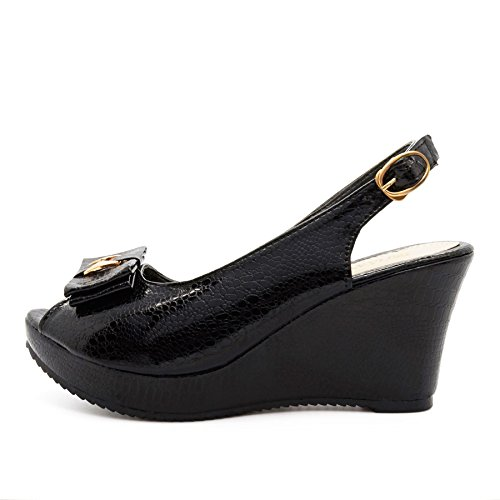 Femme London Footwear Peep Noir toe RTaxfT