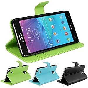 HJZ Samsung Galaxy Note 4 compatible Solid Color/Special Design Plastic/PU Leather Full Body Cases/Cases with Stand , Green