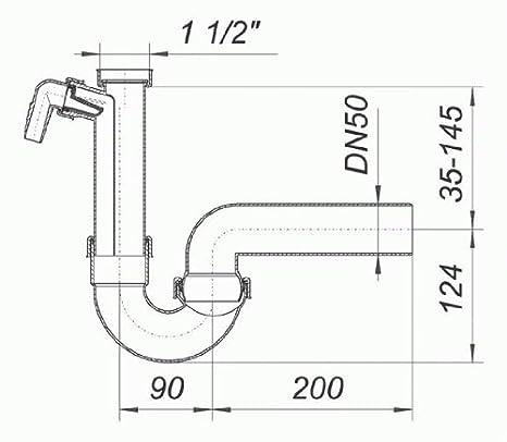 DALLMER Röhren-Siphon 100//1 SLRS mit Rückfluss-Sperre