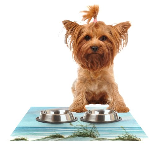 Kess InHouse Rosie Brown Sea Oats  Feeding Mat for Pet Bowl, 24 by 15-Inch