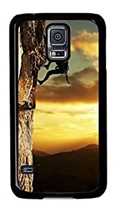 Rock climbing Custom Back Phone Case for Samsung Galaxy S5 PC Material Black -1210045