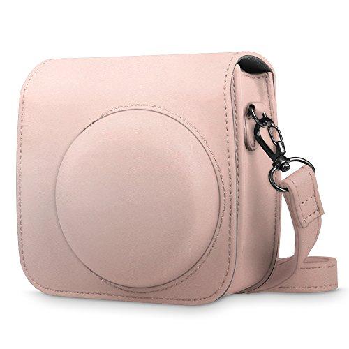 Rose Camera (Fintie Protective Case for Fujifilm Instax Mini 8 Mini 8+ Mini 9 Instant Camera - Premium Vegan Leather Bag Cover with Removable Strap, Rose Gold)