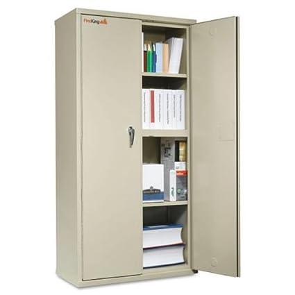 Nice Fireproof Five Shelf Storage Cabinet 72u0026quot;H Parchment