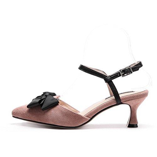BalaMasa Sandales Compensées Femme Rose X2FBtB9