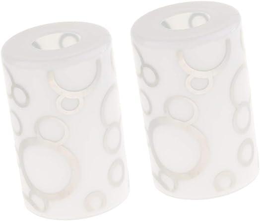 joyMerit 2pcs Glass Shade Cylinder Glass Lamp Shade Replacement, Modern Style Wall Pendant Lamp Shades 1
