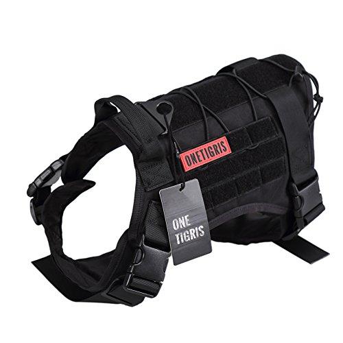 black service dog vest - 1