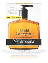 Liquid Neutrogena Fragrance-Free Facial Cleanser with Glycerin, Hypoallergenic & Oil-Free Mild Face Wash, 8 fl. oz