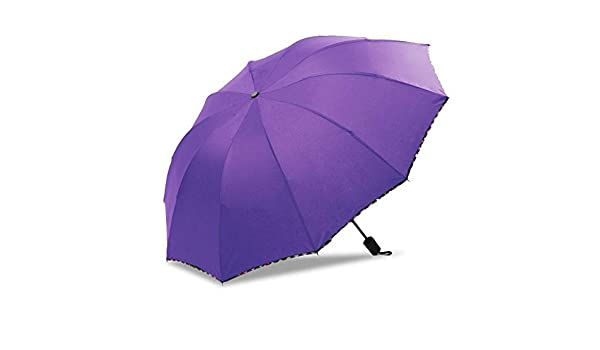 Comeyang Mini sombrilla, Paraguas de Viaje portátil, protección UV, Actividades al Aire Libre,Diez Huesos Paraguas Grandes Paraguas Plegables colour2 95cm: Amazon.es: Hogar