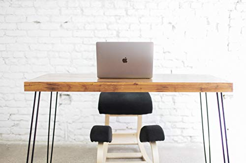Sleekform Portland Folding Table | Small Lightweight Solid Wood Metal Desk for Computer, Writing, Gaming | Stylish Foldable Portable for Dining, Home Office, Events & Tailgate | No Assembly Required