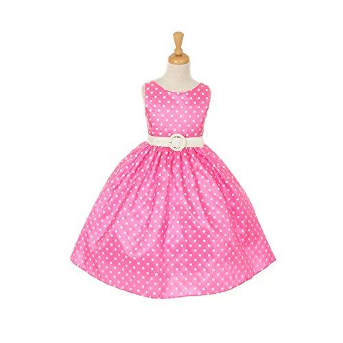 Buy belted polka dot dress - 5