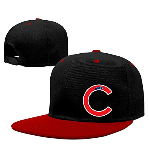Custom Unisex-Adult Chicago C Logo Snapback Hip Hop Cap Hat Red (The North Face Catherine Jacket)