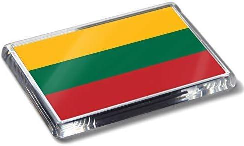 Flag of Lituania - Imán para frigorífico (acrílico), diseño de Bandera de Lituania: Amazon.es: Hogar