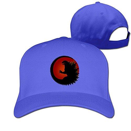 TopSeller Godzilla Logo Adjustable Peaked Baseball Caps Hats For Unisex
