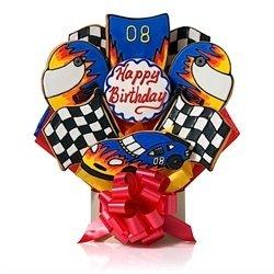 Amazon Com Happy Birthday Race Car Cookie Bouquet