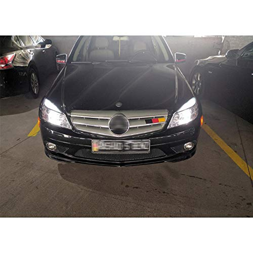 4x White LED Error Free Eyebrow Eyelid Light Bulb Compatible for 2008-2012 Mercedes Benz C300 C350 W204 C63 AMG shuangyuan 4350375557