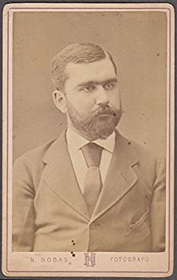 Edward Green Full Beard Studio Portrait CDV By N Nobas Barcelona Spain At Amazons Entertainment Collectibles Store