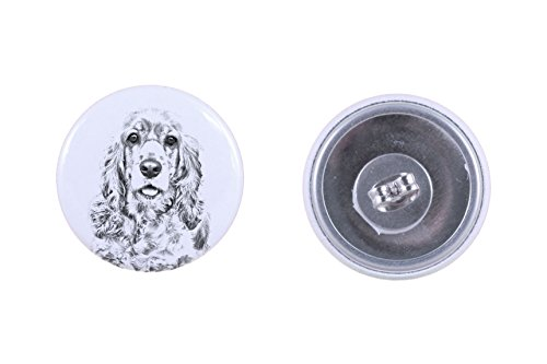 - American Cocker spaniel, earrings with a dog
