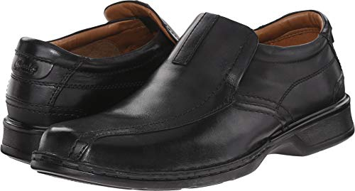 Leather Clarks Slip - Clarks Men's Escalade Step Slip-on Loafer- Black Leather 10.5 D(M) US
