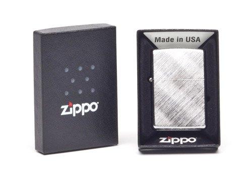Zippo Diagonal Weave Pocket Lighter, Brushed Chrome