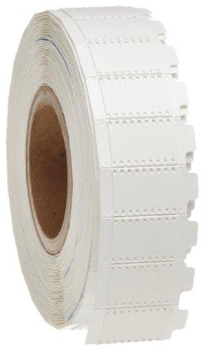 "Brady WMS-105-319 I.D. PRO Plus, LS2000 and BradyMarker XC Plus 0.5"" Width x 0.35"" Height, B-319 Non-Shrink Polyolefin, Matte Finish White BradySleeve Wire Marker Sleeves (500 per Roll)"