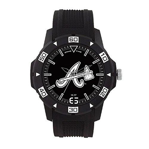 (MLB Atlanta Braves Mens MLB-Automatic Series WatchWatch, Black, 49.50mm)