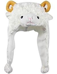 Plush Fun Animal Hats One Size Cap Polyester Fleece Lining