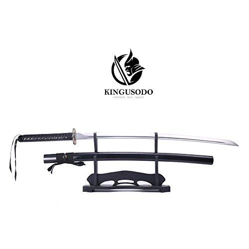 Katana Sword, High Manganese Steel Handmade Japanese Sword Katana Black