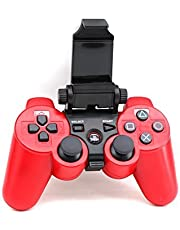 Adjustable Bluetooth Android Mobile Cell Phone Telescopic Gaming Clamp Clip Holder Mount for Playstation 3 PS3 DualShock 3 Controller with D-Pad Cap