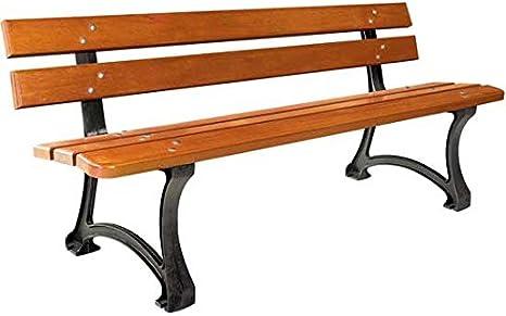 mes-meubles-jardin – Banco Madrid fundido y madera 1.80 m: Amazon.es: Jardín