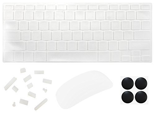 Silicon Anti-Dust Plug Cover for MacBook Pro Air (Transparent) - 2