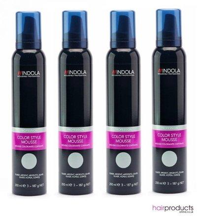 Indola Colour Mousse 200ml - Silver x4