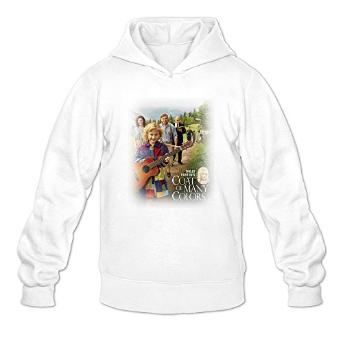 Men's Dolly Parton's Coat Of Many Colors Movie Trailer Hoodie White Large (Christmas Ruess Nate)