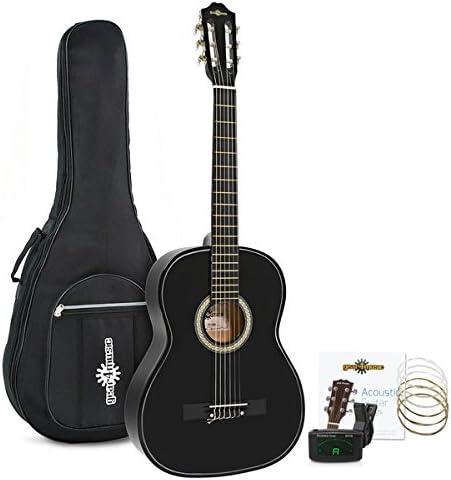 Set de Guitarra Clasica Negra de Gear4music