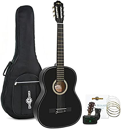 Set de Guitarra Clasica Negra de Gear4music: Amazon.es ...