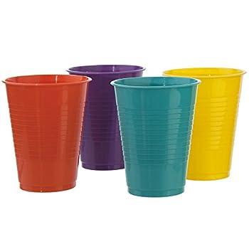 24 Pack   Break-resistant Plastic 18oz Tumblers in 4 Assorted Colors
