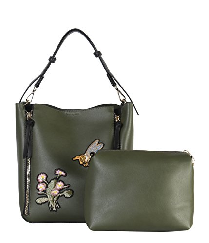 Set Double 2 amp; XH Hobo 6433 Bee Zipper PU Pieces Embroidered Rimen Daisy amp; mEtkXCLkvj Olive Leather IOPP1d