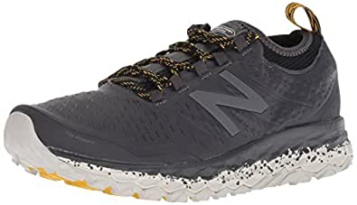 New Balance Men's Hierro V3 Fresh Foam Trail Running Shoe, Grey/Black, 7 D US
