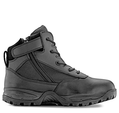 (Maelstrom Men's PATROL 6 Inch Tactical Duty Work Boot with Zipper, Black, 9.5 M US )
