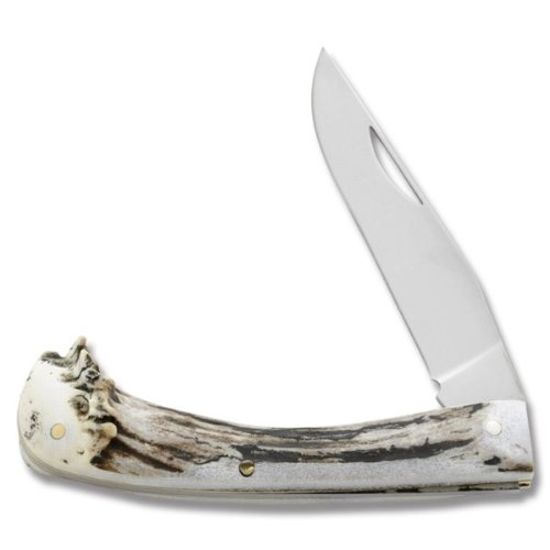 Silver Medium Folder Antler Handles