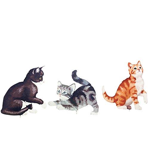 Metal Kitten Garden Stakes - Set of 3