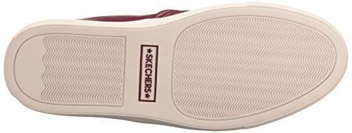 Skechers Womens Vaso Fashion Sneaker Burgundy