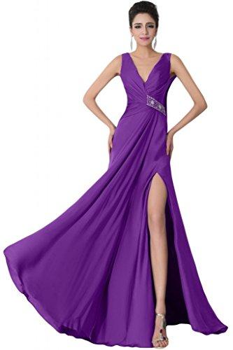 sunvary V Cuello Espalda Abierta Novia vestidos de fiesta con banda de brillantes Regency