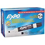 Expo Low Odor Chisel Tip Dry Erase Markers, Black, (80001) (4 Dozen)