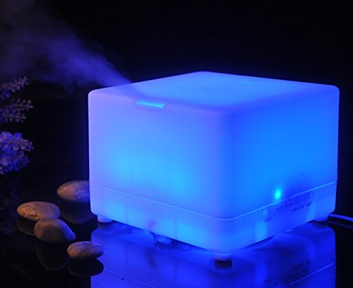 700ml Home Big Series 12 Pcs LED Aroma Diffuser Essential Oil Air Humidifier FD07 by Purple-Violet