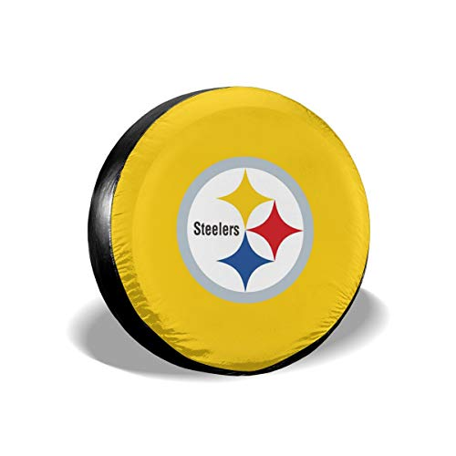 Sorcerer Design Colorful Waterproof Tire Cover Pittsburgh Steelers American Football Team Unisex Protection Spare Covers Storage Wheel Cover for Car Off Road Truck ()