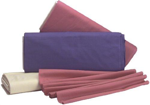 Telas Richlin cosecha broadcloth sólido 44pulgadas de ancho 100% algodón D/r-white 20m, otros, multicolor