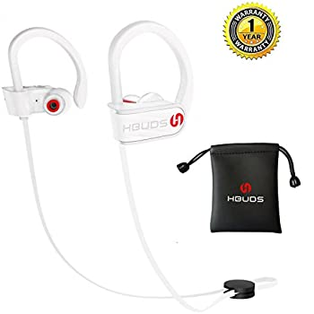 Bluetooth Headphones,Wireless Earbuds Sports Running Headphones,Hbuds H1 Stereo Bluetooth Earbuds Noise Isolation In-Ear Earphones with Mic IPX7 Waterproof for Gym Running Workout Swimming (White)