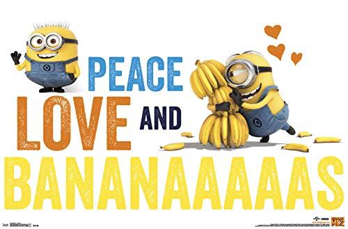 Trends International Minions-Bananas Mount Bundle Wall Poster, 22.375