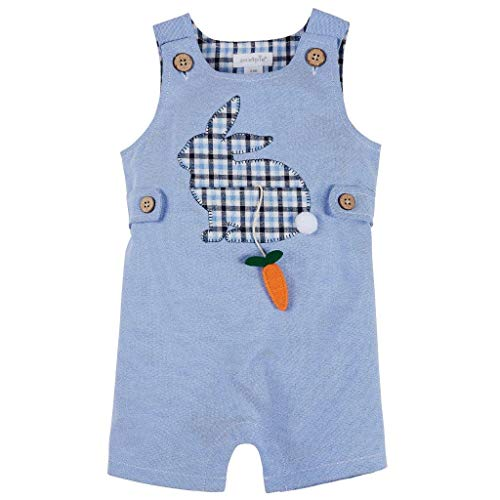 Styles Pie Mud (Mud Pie Baby Girl's Bunny Shortall (Infant) Blue 6-9 Months)